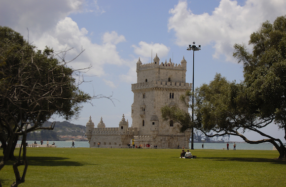 landscape with tower of belem