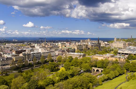 The Edinburgh skyline from Edinburgh Castle